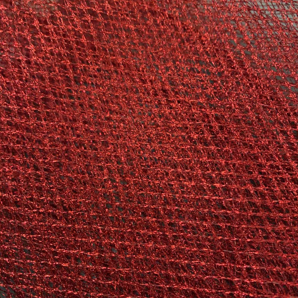 Remnant 71262 0.70m Metallic Mesh Red 140cm Wide