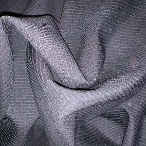 Suiting - Black Pin Stripe - Wool + Cashmere Mix -  1.3m x 1.5m Rem 111223