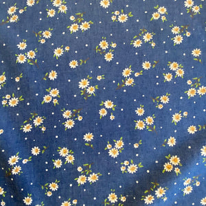 Printed Denim - Small Daisy - Sold by Half Metre