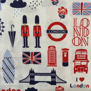 100% Cotton (Craft)  - London Town - Sold by Half Metre