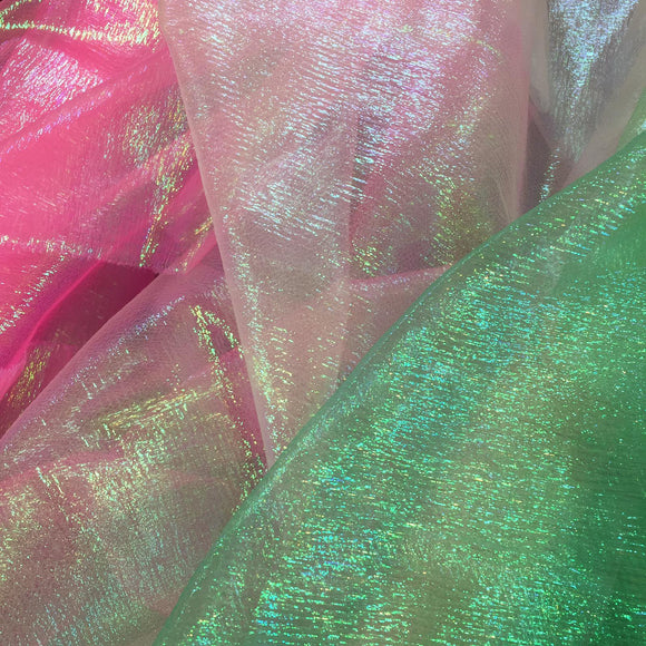 Rainbow Organza - Select Colour - Sold By Half Metre