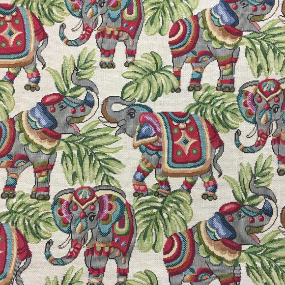 Tapestry - Elephants - Sold by Half Metre