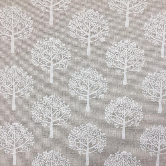 Cotton Canvas - Trees - Beige / Natural