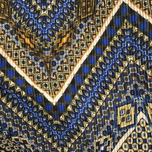 Pleated Jersey - Aztec Blue - Sold By Half Meter