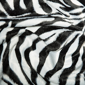 Animal Faux Fur - Zebra