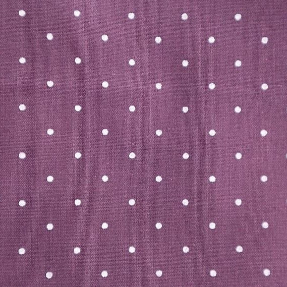 Polycotton Print Children's - Pin Spot Aubergine - Sold by Half Metre