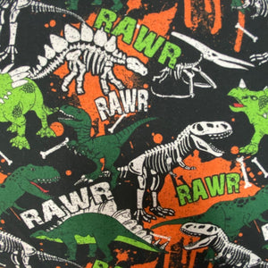 100% Cotton  - Dinosaur Rawr - Sold by Half Metre