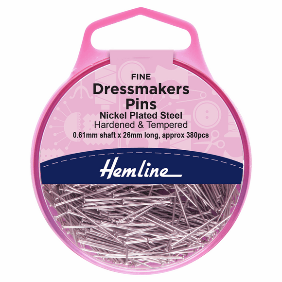 Dressmakers Pins - Nickel Plated - Fine