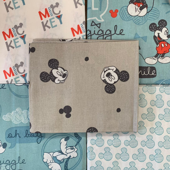 100% Cotton Fat Quarters - Disney Mickey Mouse and Friends