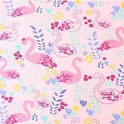 100% Cotton Poplin - Multi Flamingo - Pink - Sold by Half Metre