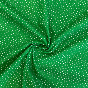 100% Cotton  - Ditsy Star - Green - Sold by Half Metre
