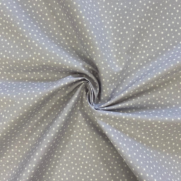 100% Cotton  - Ditsy Star - Grey - Sold by Half Metre