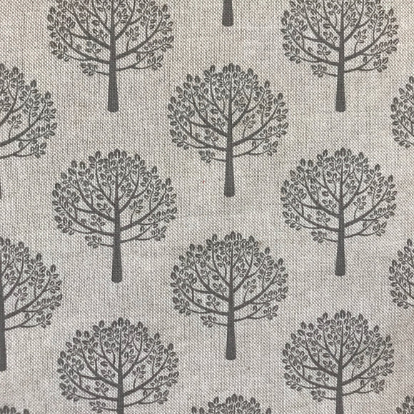 Cotton Canvas - Trees - Natural / Grey