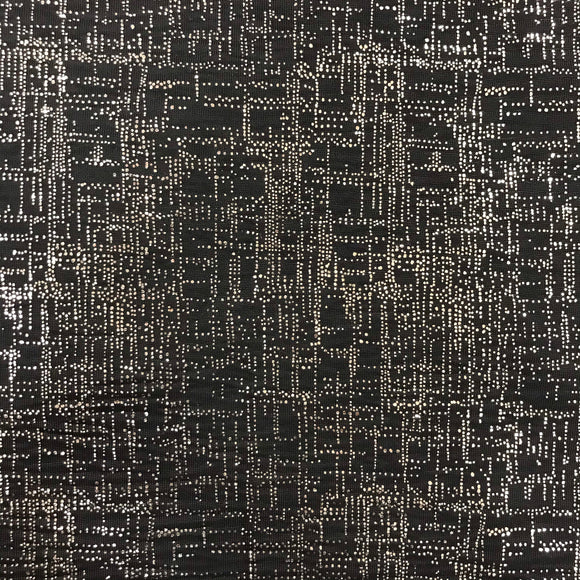 Stretch Metallic Polyester Jersey 1 - Sold By Half Meter