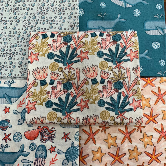 100% Cotton Fat Quarters - Under the Sea