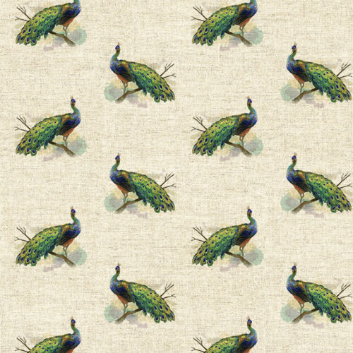 Linen look Panels - Peacock