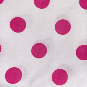 100% Cotton Fat Quarter - White with Pink Spot