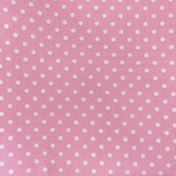 100% Cotton Fat Quarter - Light Pink Spot