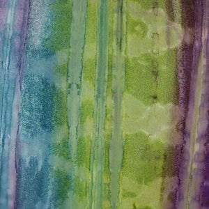 100% Cotton - Batik - Purple/Wedgewood/Lime - Sold by Half Metre