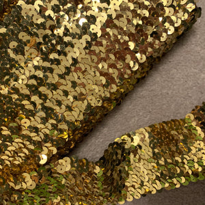Gold Stretch Sequin Trim - 2'' Wide