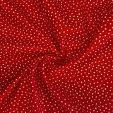 100% Cotton  - Ditsy Star - Red - Sold by Half Metre