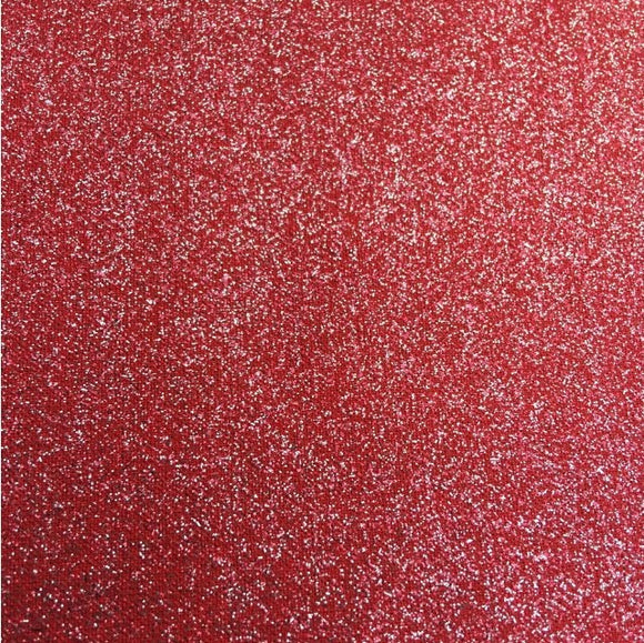 100% Cotton - Glitter Print - Red/Silver 60
