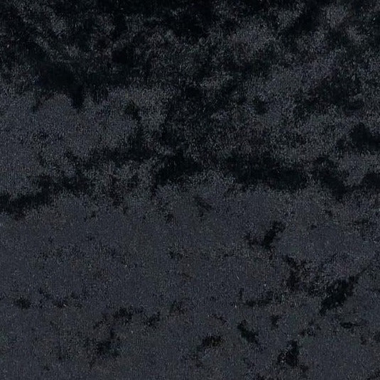 Home Furnishings - Bling Crushed Velvet - Black - Sold by Half Metre