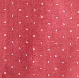 Polycotton Print Children's - Pin Spot Vintage Pink - Sold by Half Metre