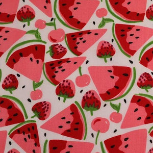 Polycotton Print - Watermelons - Sold by Half Metre