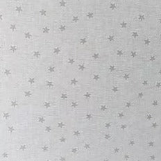 100% Cotton  - White with White Star - Sold by Half Metre