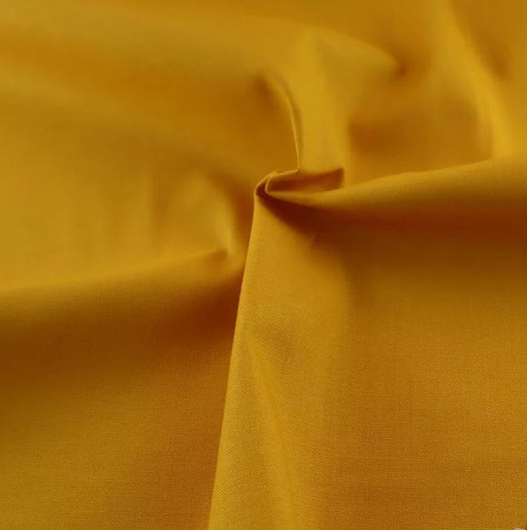 100% Cotton - Craft Cotton - Yellow - Sold by Half Metre