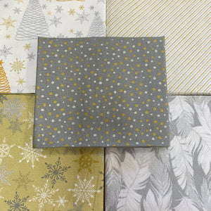 100% Cotton Fat Quarters - Metallic Christmas