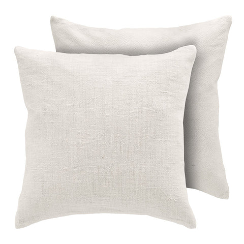 Premium Scandinavian white linen and cotton cushion