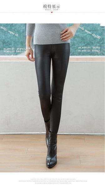 Leggings - Warme Kunstleder Winter Leggings