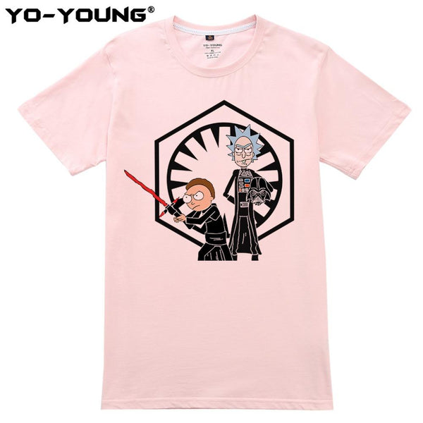 Shirts - Unisex Shirt - Rick And Morty Feat. Star Wars (4)