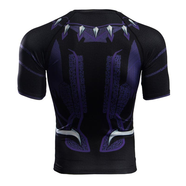 Superheld - Avengers 3 Black Panther 3D Compression Shirt
