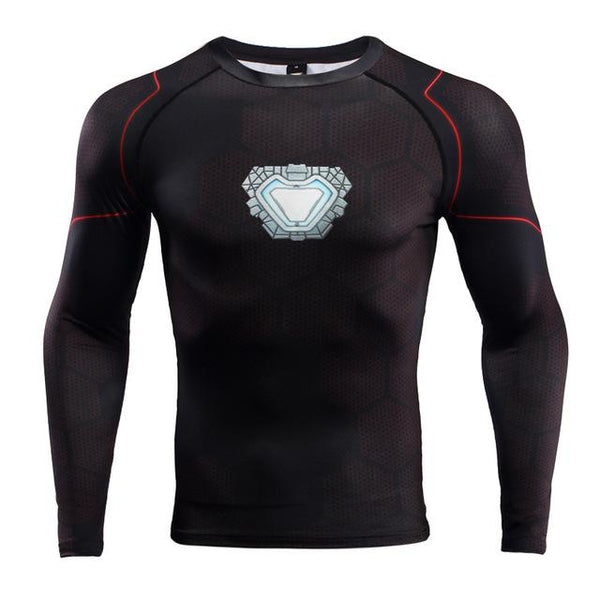Superheld - Avengers 3 Iron Man Langärmliges 3D Compression Shirt