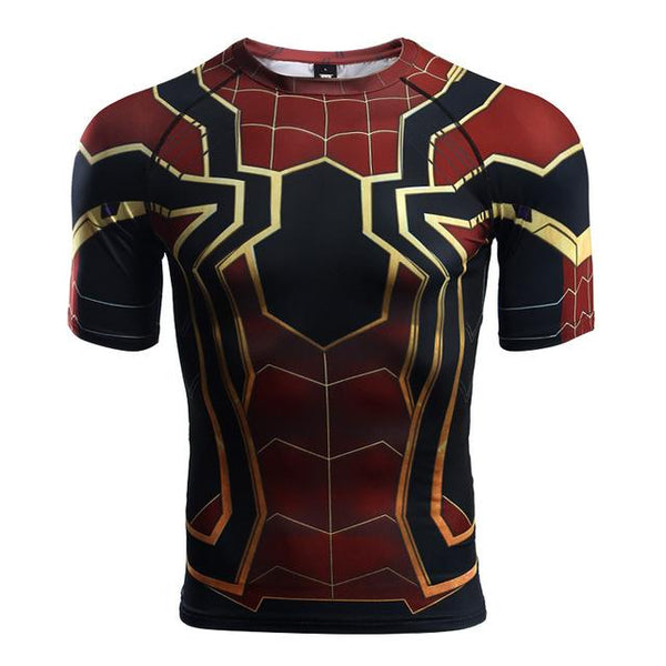 Superheld - Avengers 3 Spider-Man 3D Compression Shirt