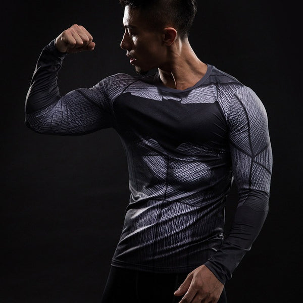 Batman Langärmliges 3D Compression Shirt - Einfach Knorke!