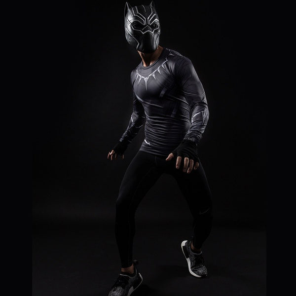 Black Panther Langärmliges 3D Compression Shirt - Einfach Knorke!