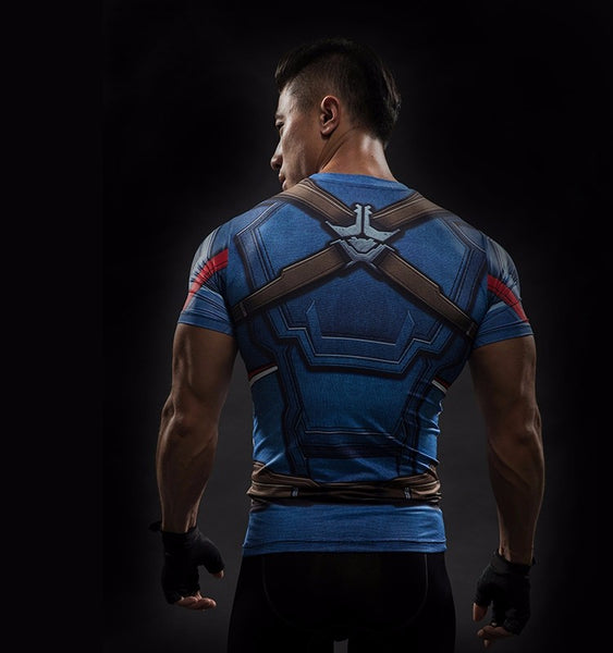 Captain America Civil War 3D Compression Shirt - Einfach Knorke!