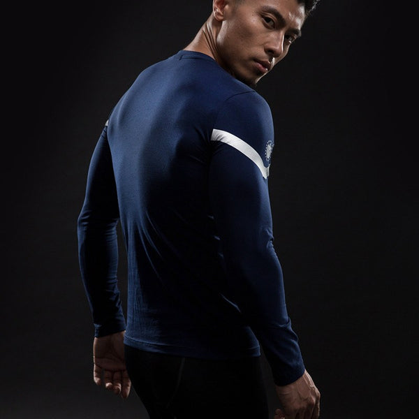 Captain America³ Langärmliges 3D Compression Shirt