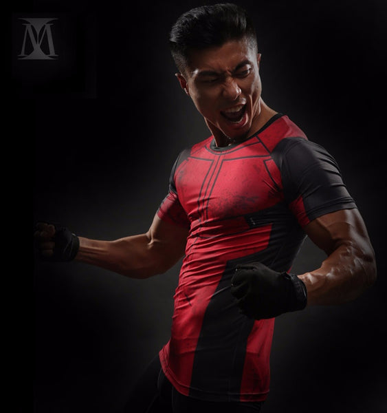 Deadpool 3D Compression Shirt - Einfach Knorke!