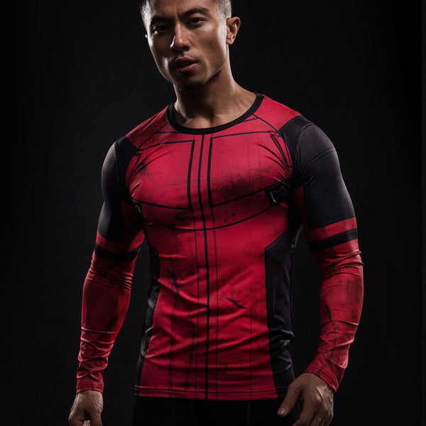 Deadpool Langärmliges 3D Compression Shirt - Einfach Knorke!