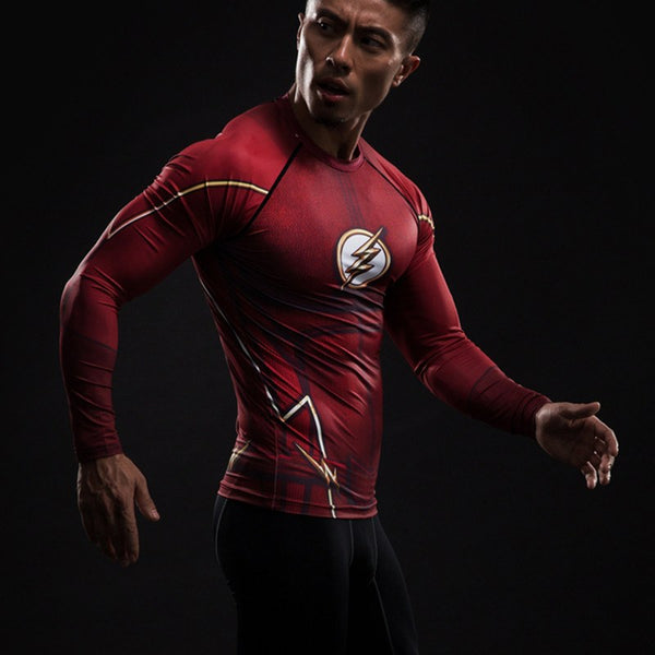 Flash Langärmliges 3D Compression Shirt - Einfach Knorke!