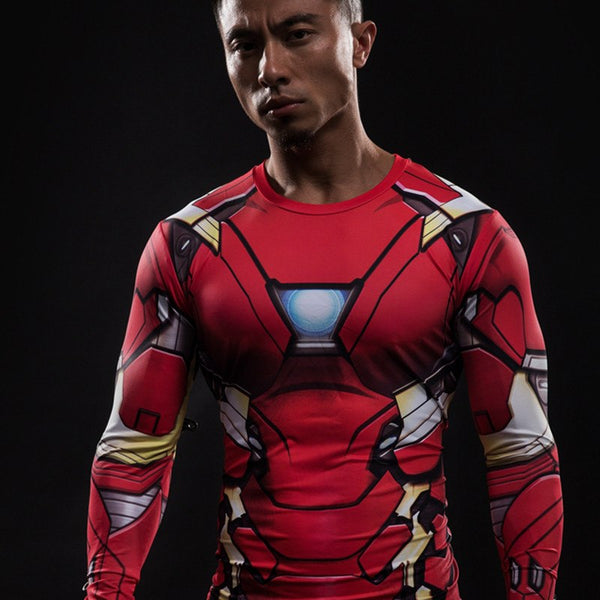 Iron Man Langärmliges 3D Compression Shirt - Einfach Knorke!