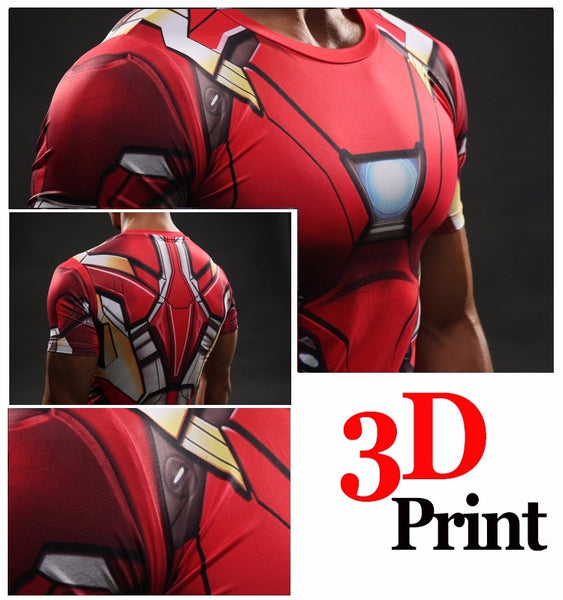 Iron Man Rot 3D Compression Shirt - Einfach Knorke!