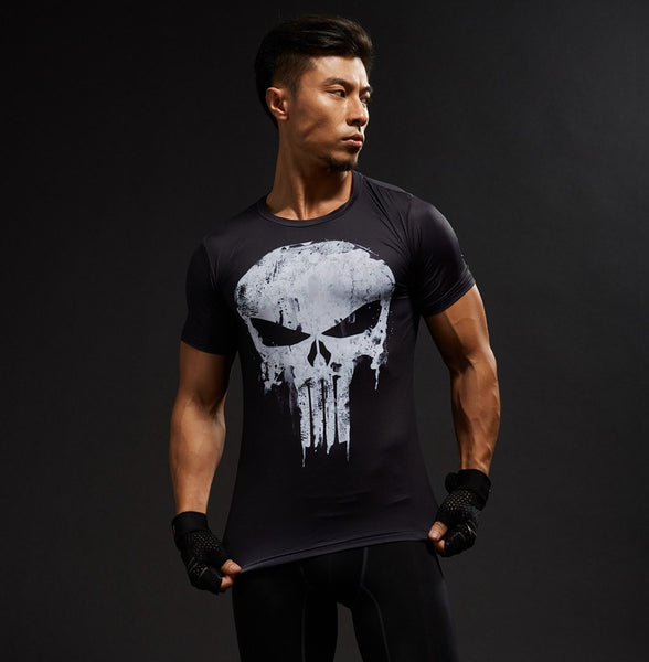 Superheld - Punisher 3D Compression Shirt (2)