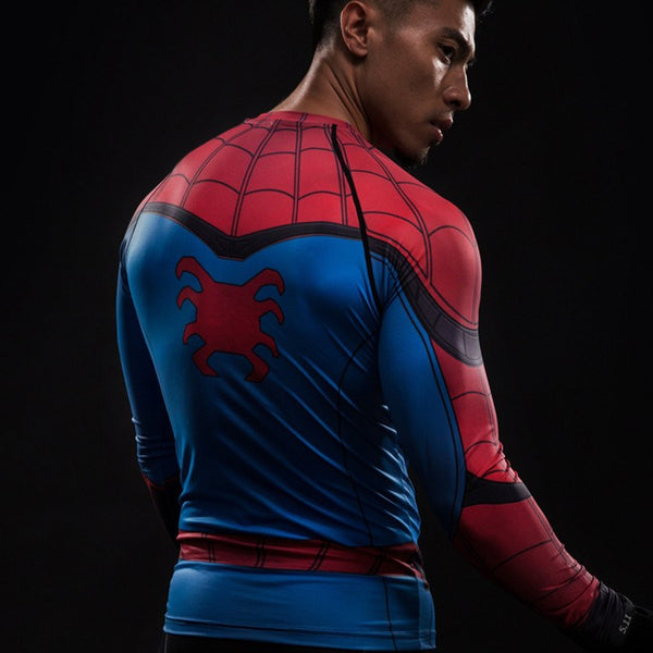 Spider-Man Langärmliges 3D Compression Shirt - Einfach Knorke!