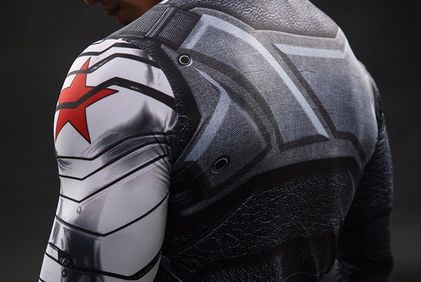 Winter Soldier Langärmliges 3D Compression Shirt - Einfach Knorke!